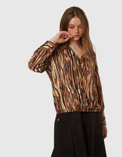 ING LA MARTINA WOMAN PRINTED TWILL SHIRT