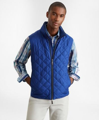MELLÉNY BROOKS BROTHERS OUT DIAMOND QUILTED VEST BLDEPTHS