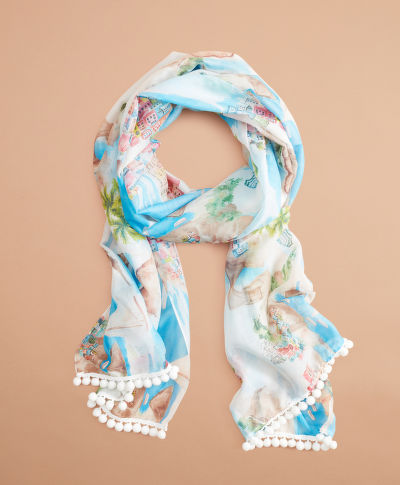 SÁL BROOKS BROTHERS RF SCENIC BOBBLE SCARF COSTALMULTI