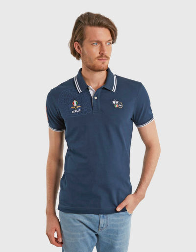 PÓLÓ LA MARTINA MAN POLO S/S PIQUET STRETCH