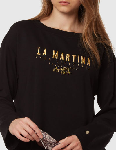 MIKINA LA MARTINA WOMAN HEAVY JERSEY FLEECE