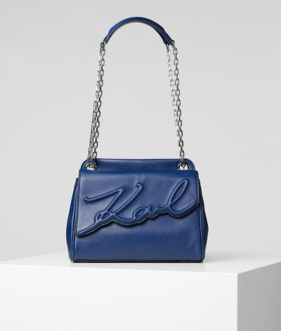 HAND BAG KARL LAGERFELD K/SIGNATURE SOFT MD SB