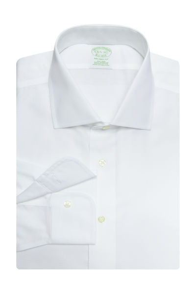 ING BROOKS BROTHERS DS NI DOBBY ENG FF NP MIL WHITE