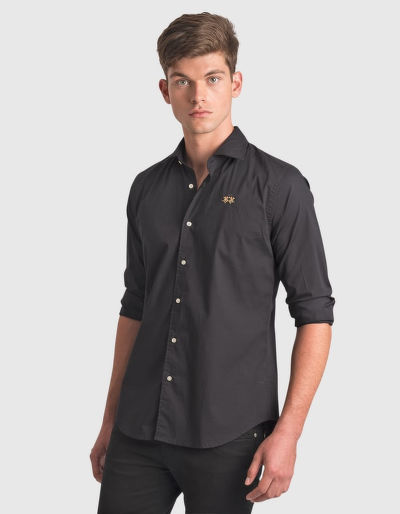 ING LA MARTINA MAN SHIRT L/S POPLIN STRETCH P