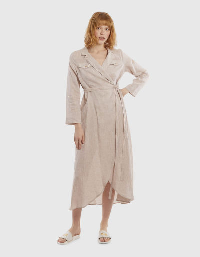 RUHA LA MARTINA WOMAN LINEN DRESS L/S