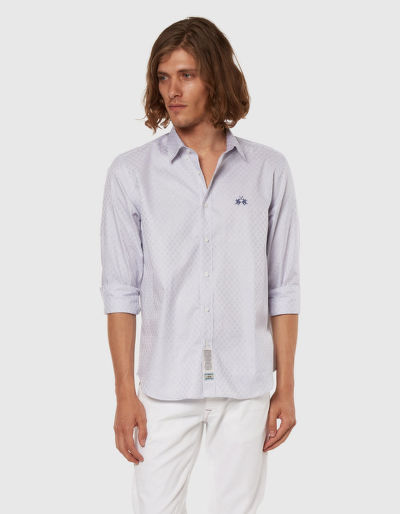 ING LA MARTINA MAN L/S SHIRT FANCY TWILL