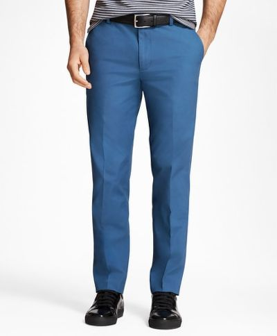 NADRÁG BROOKS BROTHERS CBT SUPIMA POPLIN PANT MILANO ENSIGN BLUE