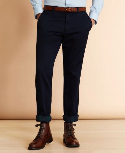 NADRÁG BROOKS BROTHERS FLANNEL-LINED CHINOS