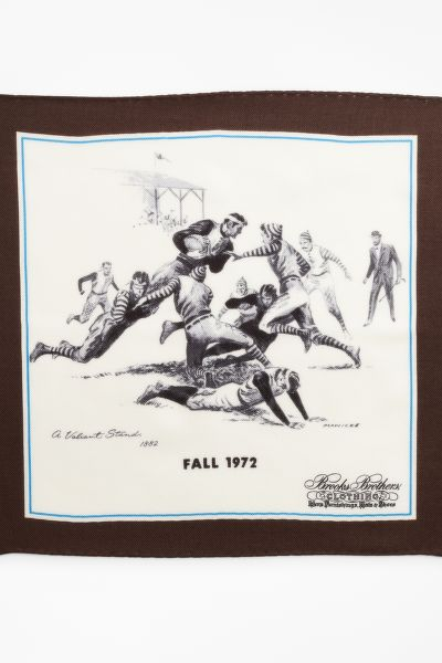 ZSEBKENDŐ BROOKS BROTHERS LIMITED EDITION ARCHIVAL COLLECTION FALL 1972 CASHMERE-SILK POCKET SQUARE