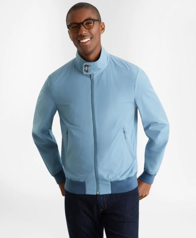DZSEKI BROOKS BROTHERS OUT ULTRALIGHT STRETCH BOMBER PROVINCIALBLUE