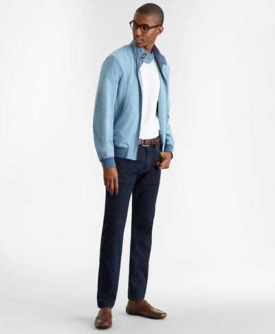 BUNDA BROOKS BROTHERS OUT ULTRALIGHT STRETCH BOMBER PROVINCIALBLUE