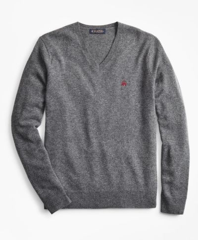 PULÓVER BROOKS BROTHERS LAMBSWOOL V-NECK SWEATER