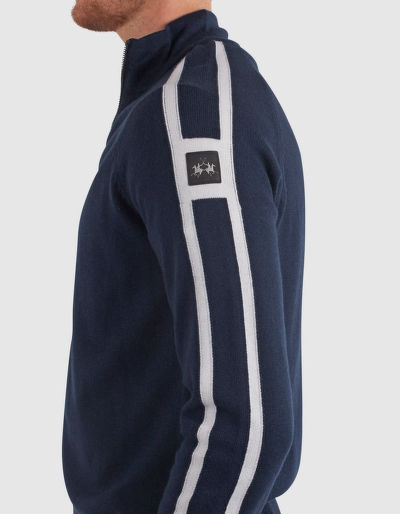 SVETR LA MARTINA MAN TRICOT FULL ZIP GG.10 LAMB