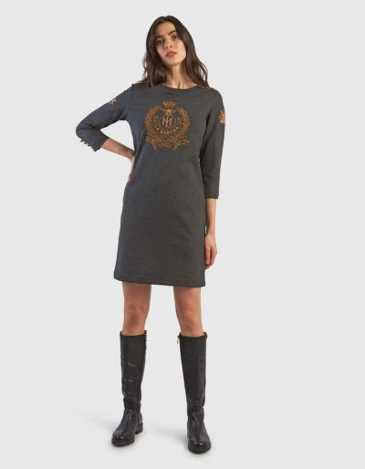 RUHA LA MARTINA WOMAN PUNTO MILANO DRESS L/S