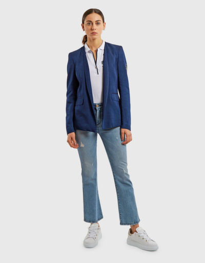 SAKO LA MARTINA WOMAN LUREX DENIM JACKET