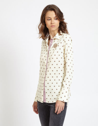 ING LA MARTINA WOMAN SHIRT L/S TWILL VISCOSE