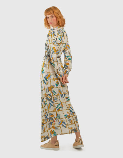 ŠATY LA MARTINA WOMAN FLAGS PRINT L/S DRESS