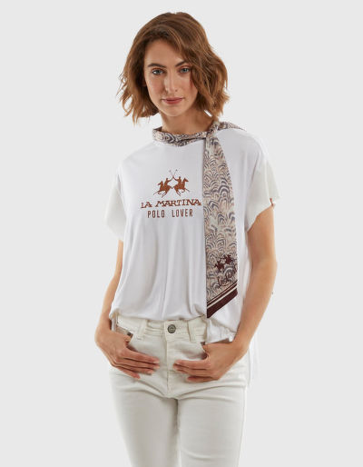 PÓLÓ LA MARTINA WOMAN VISCOSE JERSEY T-SHIRT