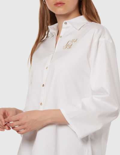 KOŠILE LA MARTINA WOMAN 3/4SLEEVE SHIRT COTTON P