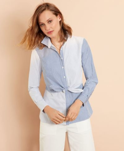 ING BROOKS BROTHERS TIE-FRONT FUN SHIRT