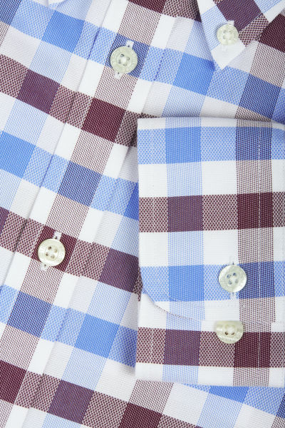 KOŠILE BROOKS BROTHERS NON-IRON MILANO FIT MULTI-GINGHAM DOBBY SPORT SHIRT