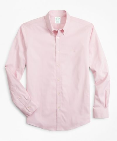 ING BROOKS BROTHERS SPT ML NI STRETCH PINPOINT SOLID MILANO PINK