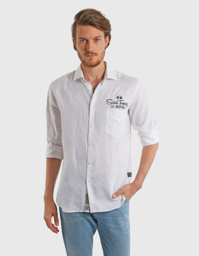 ING LA MARTINA MAN L/S SHIRT LIGHT LINEN