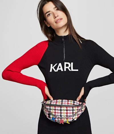 BUM BAG KARL LAGERFELD K/STUDIO TWEED BUMBAG