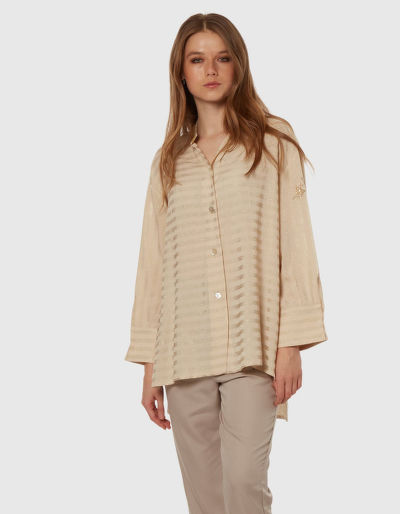 ING LA MARTINA WOMAN LUREX TELA L/S SHIRT
