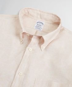 ING BROOKS BROTHERS SPT IRISH LINEN SOLID REGENT SAFARI