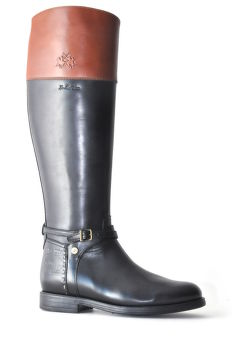 HÓCSIZMA LA MARTINA WOMAN BOOTS CUERO CALF LEATHER NERO