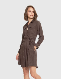 RUHA LA MARTINA WOMAN DRESS L/S ECO SUEDE