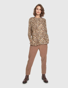 BLÚZ LA MARTINA WOMAN SHIRT L/S TWILL