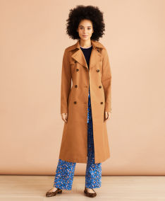 KABÁT BROOKS BROTHERS OUT TRENCH LONG TOASTED COCONUT