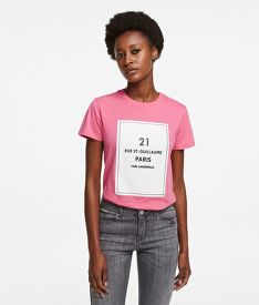 PÓLÓ KARL LAGERFELD SQUARE ADDRESS LOGO T-SHIRT