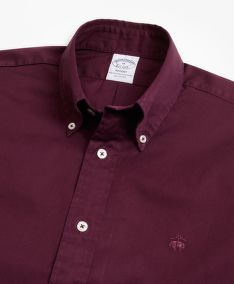 ING BROOKS BROTHERS REGENT FIT GARMENT-DYED TWILL SPORT SHIRT