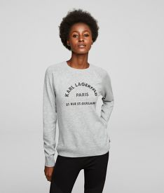 KARDIGÁN KARL LAGERFELD ADDRESS LOGO SWEATER