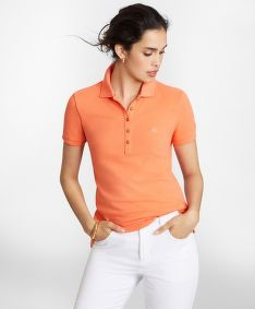 PÓLÓ BROOKS BROTHERS KNT POLO CTN SS CORAL QUARTZ