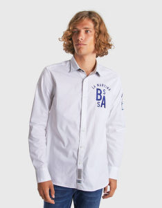 ING LA MARTINA MAN SHIRT L/S OXFORD STREAM OX