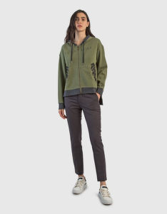MELEGÍTŐ FELSŐ LA MARTINA WOMAN FISHERMAN FLEECE FULL ZI