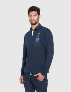 PÓLÓ LA MARTINA MAN POLO L/S JERSEY INTERLOCK