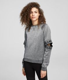 MELEGÍTŐ FELSŐ KARL LAGERFELD CUT OUT SLEEVE SWEAT W/LOGO