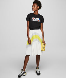 SZOKNYA KARL LAGERFELD COLOURBLOCK PLEATED SKIRT