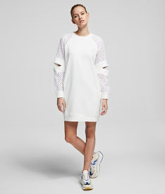 MELEGÍTŐ FELSŐ KARL LAGERFELD CUT OUT LACE SLV SWEAT DRESS