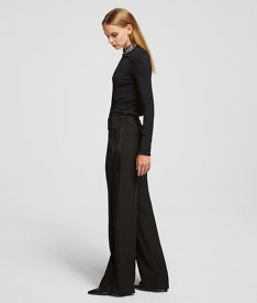 NADRÁG KARL LAGERFELD TAILORED WIDE LEG PANTS