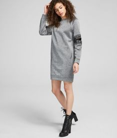 MELEGÍTŐ FELSŐ KARL LAGERFELD CUT OUT SLEEVE SWEAT DRESS
