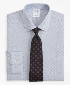 ING BROOKS BROTHERS REGENT FITTED DRESS SHIRT, NON-IRON MICRO-CHECK
