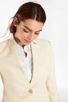 ZAKÓ BROOKS BROTHERS DOUBLE-WEAVE ONE-BUTTON JACKET