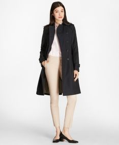KABÁT BROOKS BROTHERS OUT CTN LGN TRENCH Z NVY