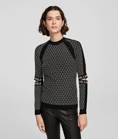 KARDIGÁN KARL LAGERFELD CUT-OUT SLEEVE KNIT SWEATER